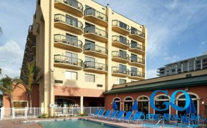 Doubletree Hotel and Pool View in Cocoa Beach
