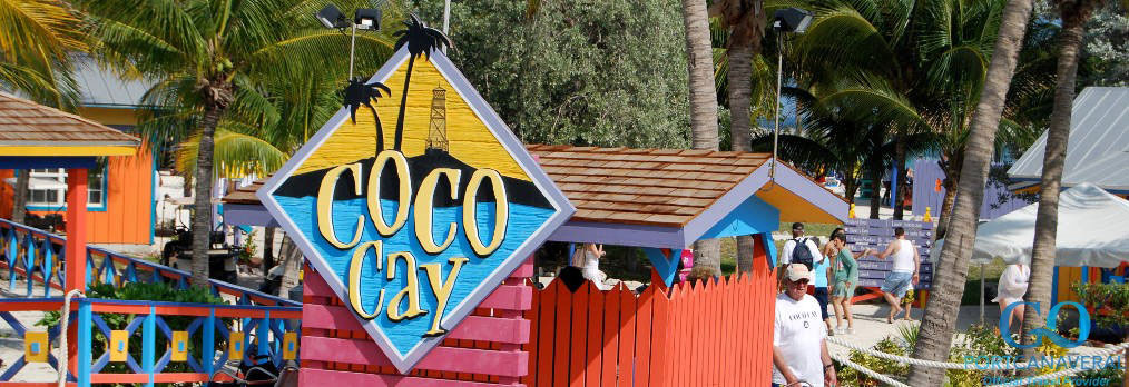 Welcoming sign to Coco Cay