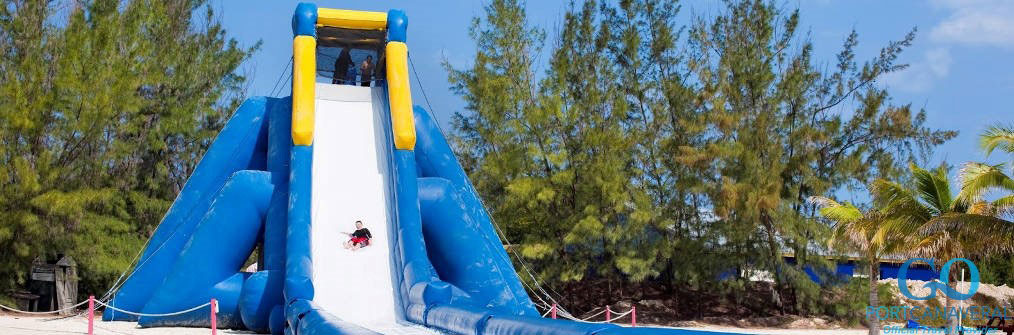 Coco Cay inflatable slide for the kids