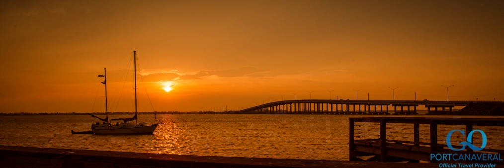 Sunset at the pier in Titusville
