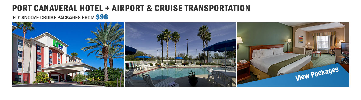 go port canaveral hotel package with airport shuttle and cruise transfers