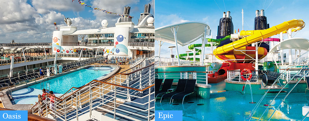 oasis and epic pools side by side