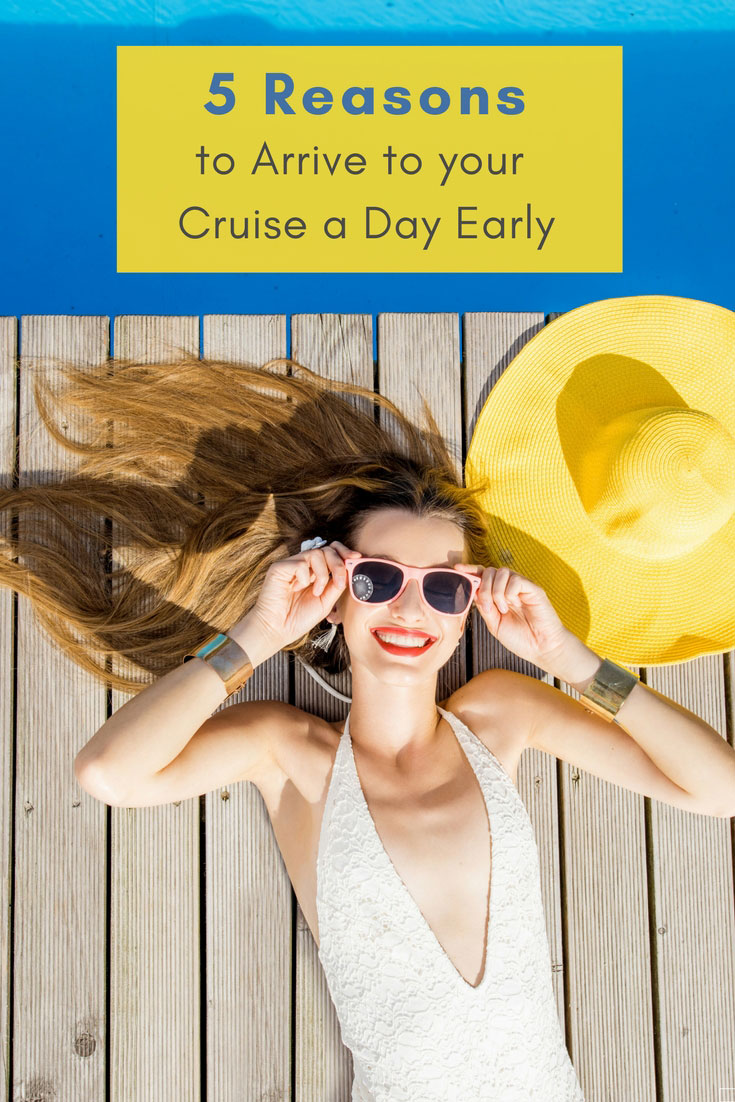 pinterest image for getting to cruise a day early