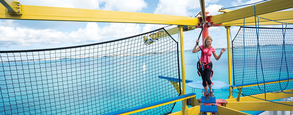 ropes course on a cruise