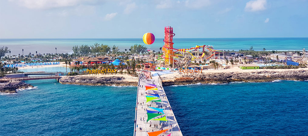 View of Coco Cay from Harmony of the Seas