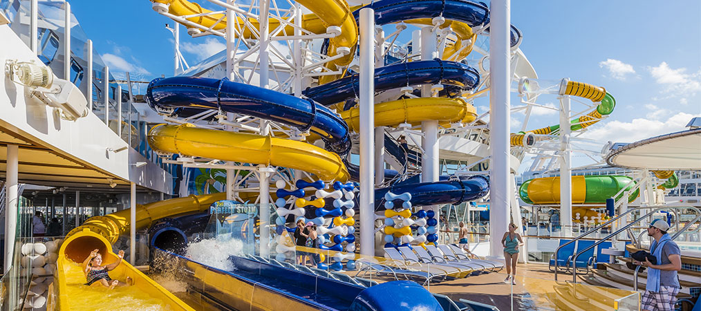 Typhoon and Cyclone Slides on Harmony of the Seas