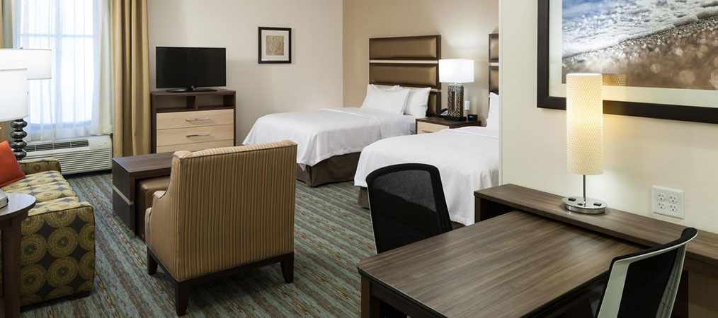 Queen Beds in Homewood Suites Cape Canaveral