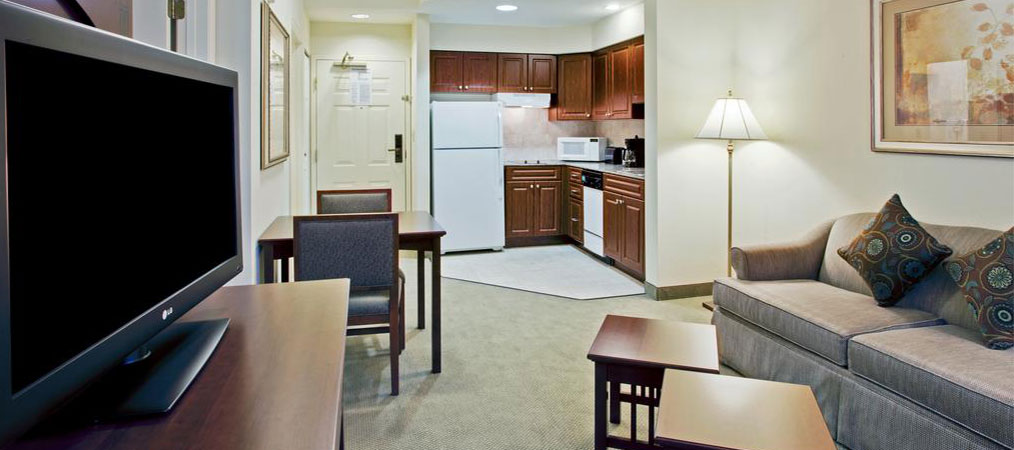 Kitchen and Living Area in Staybridge Suites