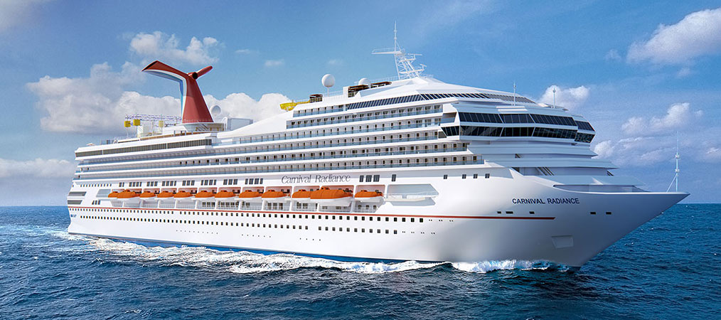 Rendition of Carnival Radiance at sea