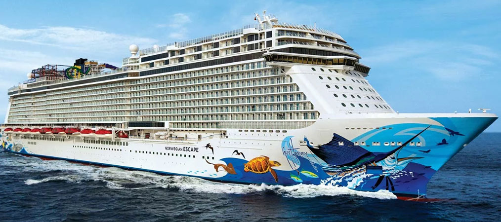 Norwegian Encore cruise ship at sea
