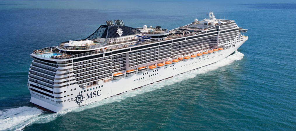 MSC Divina Cruise out of Port Canaveral at sea