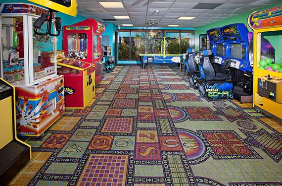 arcade in International Palms Cocoa Beach hotel'