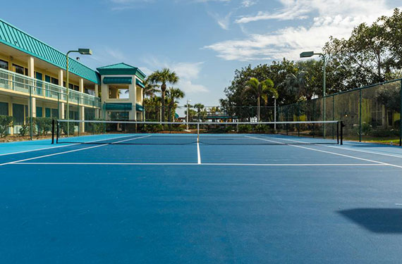 sport court outside of International Palms Cocoa Beach hotel'