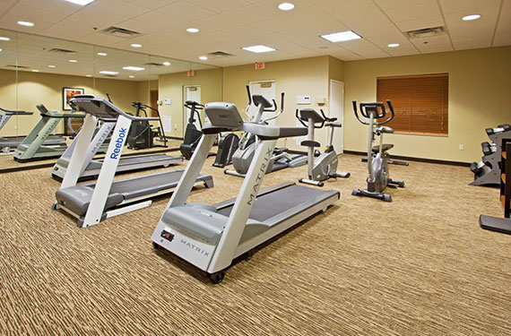 fitness center at Staybridge Suites Orlando Airport hotel'