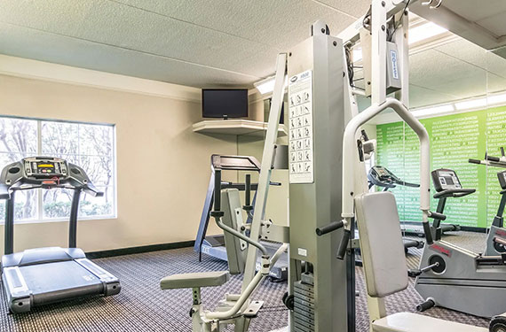 fitness center in La Quinta Inn Airport North hotel'