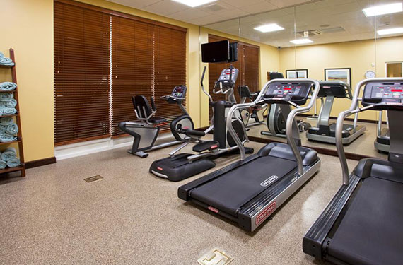 treadmills and other workout equipment in Holiday Inn Titusville Kennedy Space Center fitness center