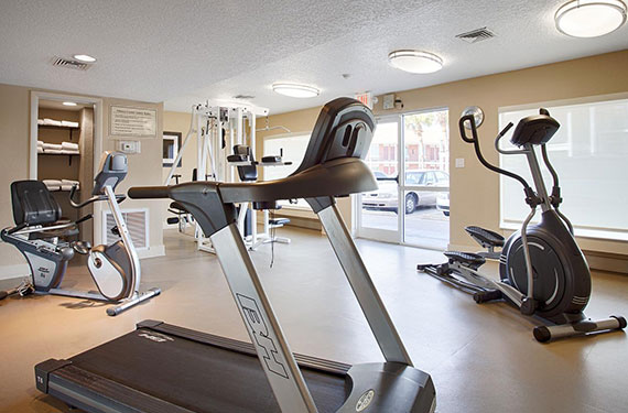 gym equipment and machinery at Best Western Titusville