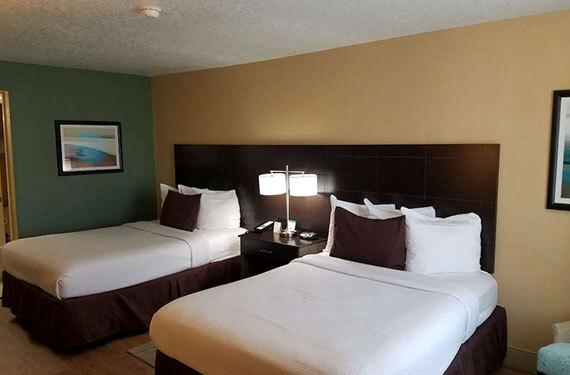 2 double beds in a Best Western Titusville hotel room